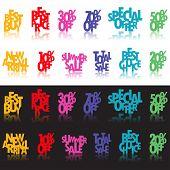 Постер, плакат: Многоцветные розничной знаки