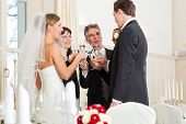 stock photo of wedding feast  - Wedding party bride - JPG