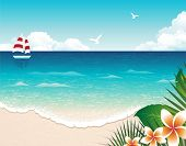 picture of summer beach  - Summer Beach - JPG