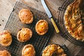 Mini meat pie with homemade crust food photography poster