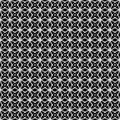 Seamless op art pattern. Black-and-white abstract texture. Vector art.