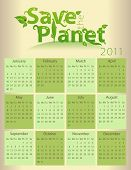 Calendar for 2011 - Save the Planet - everything grouped for easy use poster