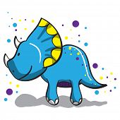 stock photo of dinosaurus  - Cute dinosaur  - JPG