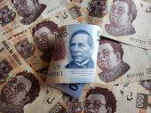 New Mexican Banknote Of 500 Pesos And Previous Banknotes Of 500 Pesos poster