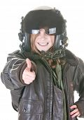picture of bomber jacket  - girl who wants to fly - JPG