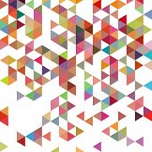Retro Pattern Of Geometric Shapes. Colorful-mosaic-banner. Geometric Hipster Retro Background With P poster