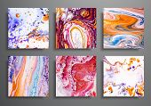 Dynamic Backgrounds. Trendy Placards, Commercial Covers Set. Marble Colorful Effect. Abstract Page P poster