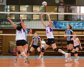 KAPOSVAR, HUNGARY - OCTOBER 16: Unidentified players in action at the Hungarian NB I. League woman v
