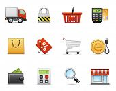 Shopping icon set