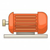 Electric Motor Icon. Cartoon Illustration Of Electric Motor Icon For Web poster