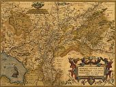 Antique Map Of Germany And The Netherlands