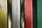 Abstract Colorful Background. Colorful Wooden Panels. Wooden Panels.old Wooden Fence. Close-up Shot  poster