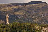 pic of william wallace  - National Wallace Monument on the hill Stirling Scotland - JPG