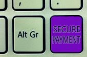 Handwriting Text Writing Secure Payment. Concept Meaning Security Of Payment Refers To Ensure Of Pai poster