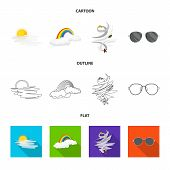 Vector Design Of Weather And Weather Symbol. Set Of Weather And Application Stock Symbol For Web. poster