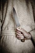 Killer Woman With A Knife. Violence Aggression. Criminal Murderer. Assassin poster