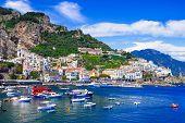 Scenic Amafi coast. Italian summer holidays. Campania, Italy poster