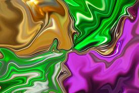 stock photo of mardi-gras  - Metallic background in traditional mardi gras colors - JPG