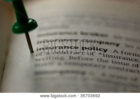Definition of insurance policy