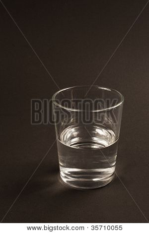 Half Full Or Half Empty Glass Of Water