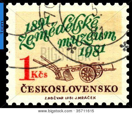 Vintage Postage Stamp. Agriculture Museum.