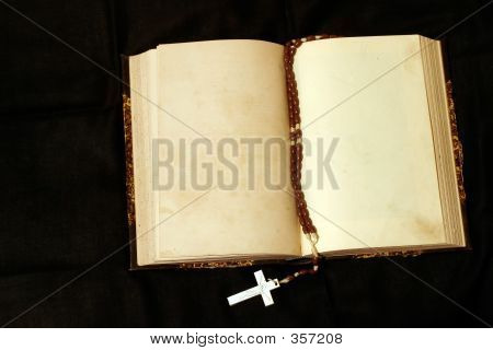Rosary And Empty Pages Book