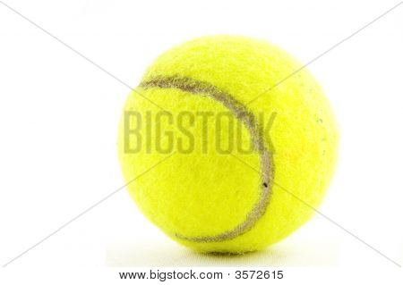Yellow Tennisball Isolated On A White Background