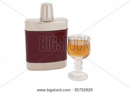 Hip Flask With Brandy