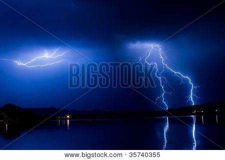 Lightning Thunderstorm Into The Night