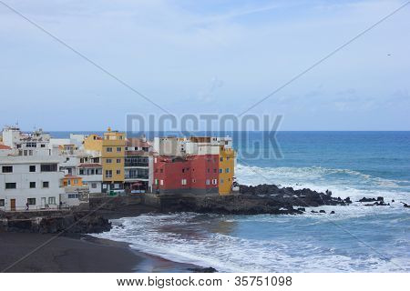 coast in  Puerto de la Cruz, Tenerife, Spain