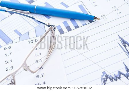 Business background, financial data concept