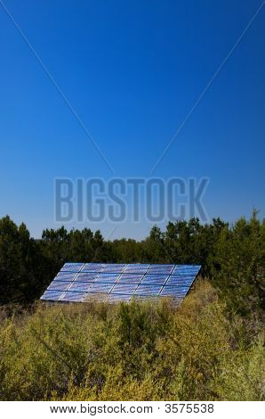 A Solar Panel Soaking Up Energy