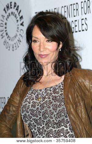 "BEVERLY HILLS - MARCH 7: Katey Sagal arrives at the 2012 Paleyfest ""Sons of Anarchy"" panel on Wednesday, March 7, 2012 at the Saban Theater in Beverly Hills, CA."