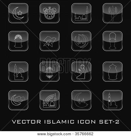 Vector Islamic icon set. EPS 10.