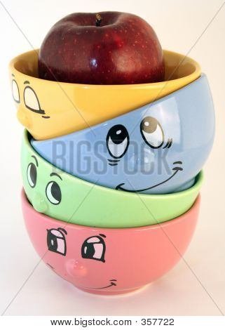 Thinking Faces And Apple Ideas
