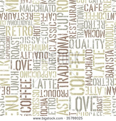 Coffee seamless pattern, vector. EPS8