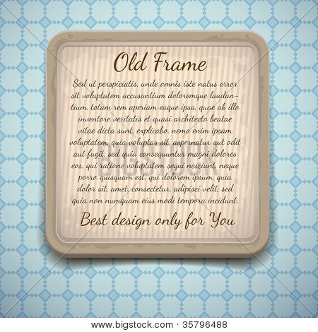 Vintage frame for text or image