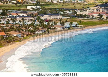 resort beach at basseterre on st kitts, caribbean