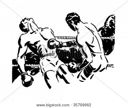 Knockout Punch - Retro Clipart Illustration