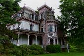 stock photo of dingy  - Abandoned and forgotten Victorian house in New York State.