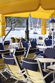 pic of safe haven  - an empty port side restaurant Calvi Corsica - JPG