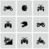 stock photo of four-wheelers  - ATV icons - JPG