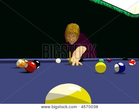 Eightball With Shooter Wearing Glasses