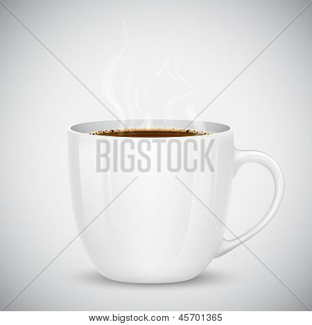 illustration of mug with hot coffee