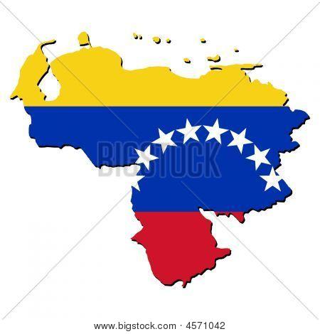 Bandeira de mapa de Venezuela