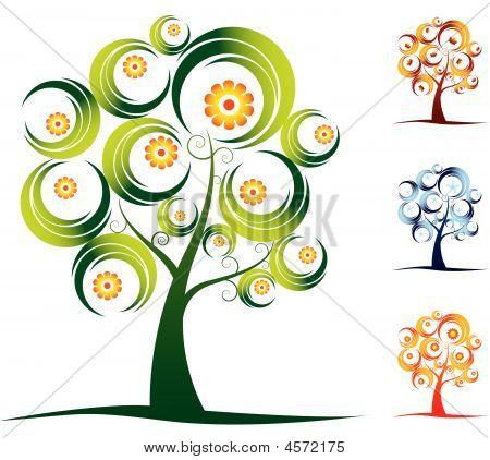 Conjunto del árbol de cuatro estaciones
