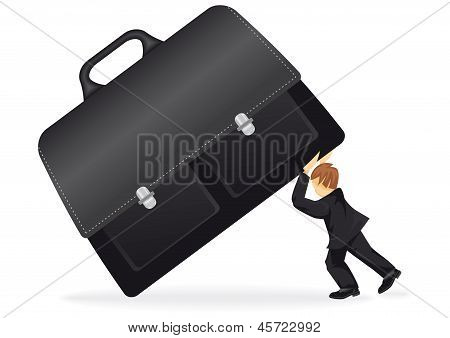 Business Man With A Suitcase