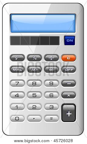 Accounting Finance Business Calculator Isolated