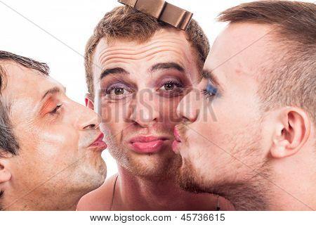 Cute Transvestites Kissing