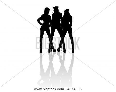 Three Hot Girls